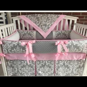 Other - Custom crib skirt, blanket and changing pad cover